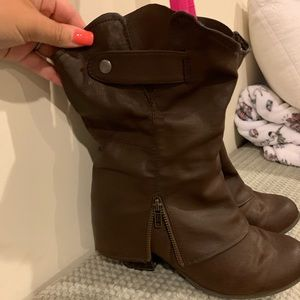 Maurices Shoes - Brown booties with zipper details